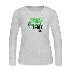 Athlete by Nature, Cheerleader by Choice - Women's Long Sleeve Jersey T-Shirt
