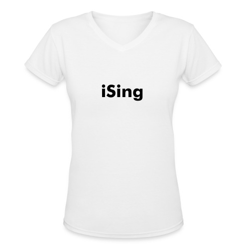 iSing V neck - Women's V-Neck T-Shirt