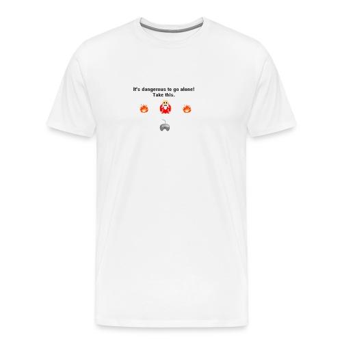 It's Dangerous To Go Alone Men's T-Shirt - Men's Premium T-Shirt