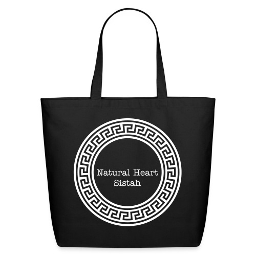 NATURAL HEART SISTAH TOTE BAG - Eco-Friendly Cotton Tote