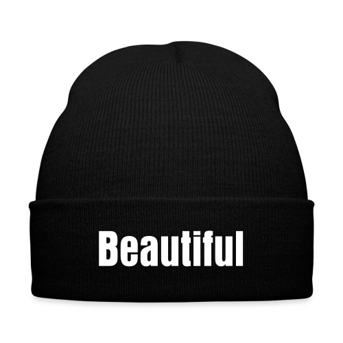 NATURAL HEART SISTAH Knit Fitted - Knit Cap with Cuff Print