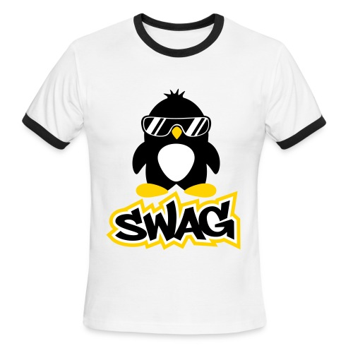 Penguin Swag - Men's Ringer T-Shirt