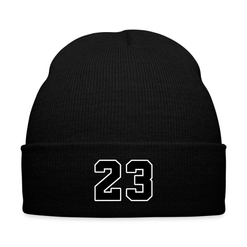23isBack - Knit Cap with Cuff Print