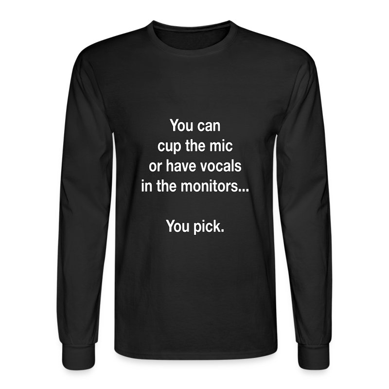 Cup The Mic Tee - Men's Long Sleeve T-Shirt