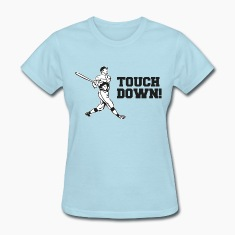 Touchdown Homerun Baseball Football Sports Women's T-Shirts