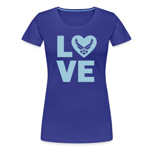 LOVE Air Force - Women's Premium T-Shirt