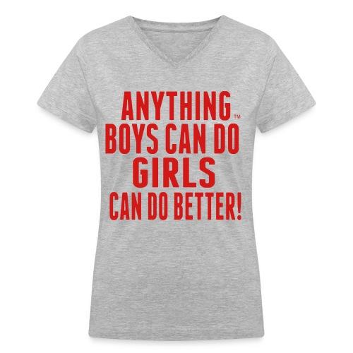 Girls Rule - Women's V-Neck T-Shirt