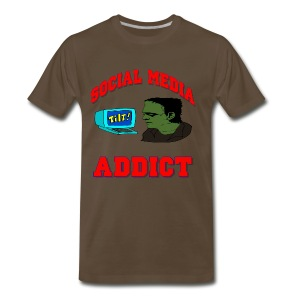 Social Media Addict T-Shirt For Men - Men's Premium T-Shirt