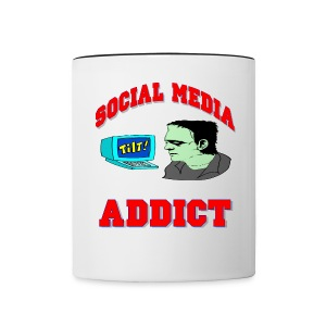 Social Media Addict Ceramic Coffee Mug - Contrast Coffee Mug