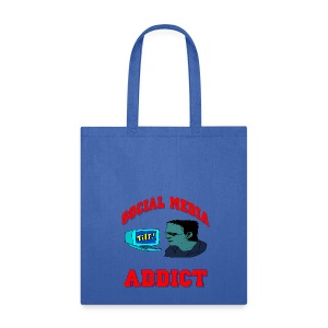 Social Media Addict Canvas Tote Bag - Tote Bag