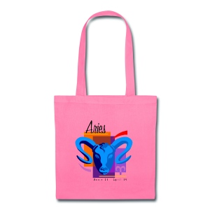 Aries Sign Canvas Tote Bag - Tote Bag