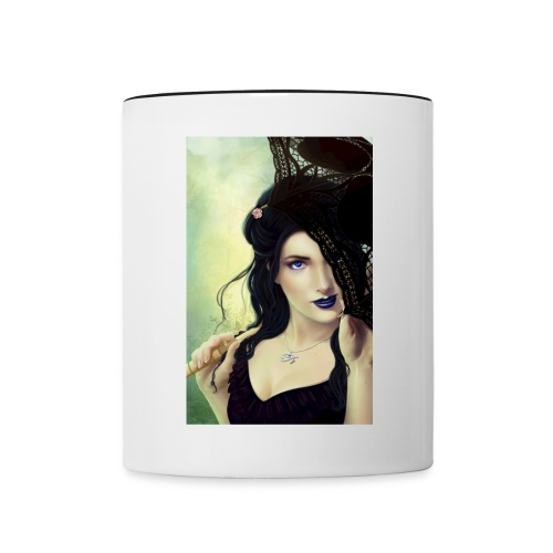 The Shulim Cycle Book of Dahlia Cover Art Mug - Contrast Coffee Mug