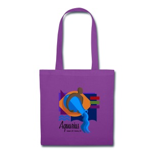 Aquarius Sign Canvas Tote Bag - Tote Bag