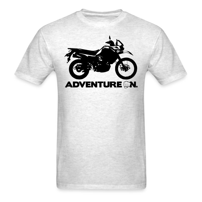Trusty Adventure On - Black Logo - Men's T-Shirt