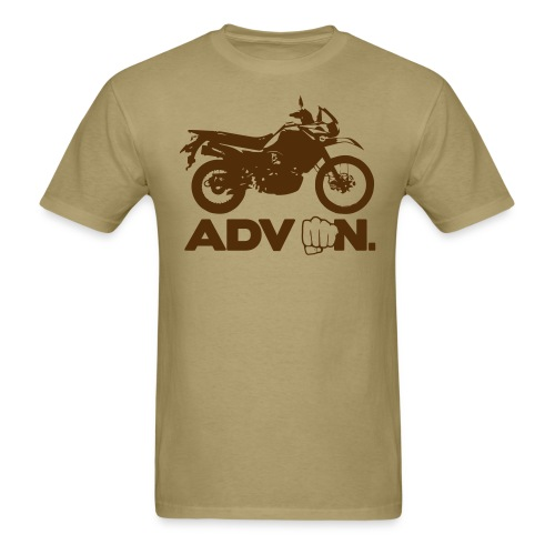Trusty ADV On - Brown Logo - Men's T-Shirt