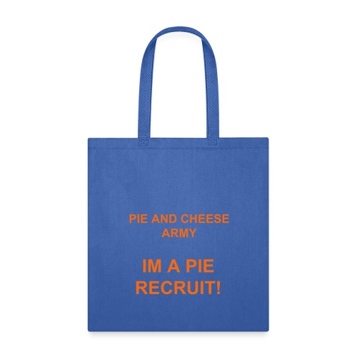 Blue Pie and Cheese Army Tote Bag - Tote Bag