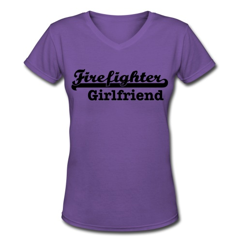 Firefighter girlfriend - Women's V-Neck T-Shirt