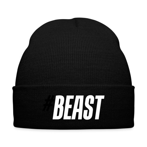 #Beast Knit Cap - Knit Cap with Cuff Print