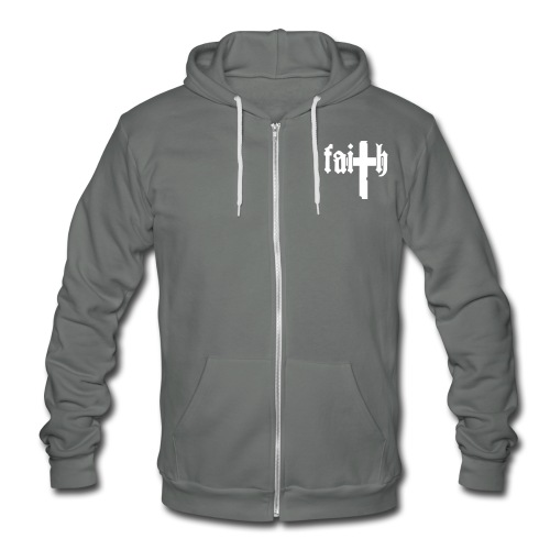 His Or Hers FAITH Hoodie - Unisex Fleece Zip Hoodie