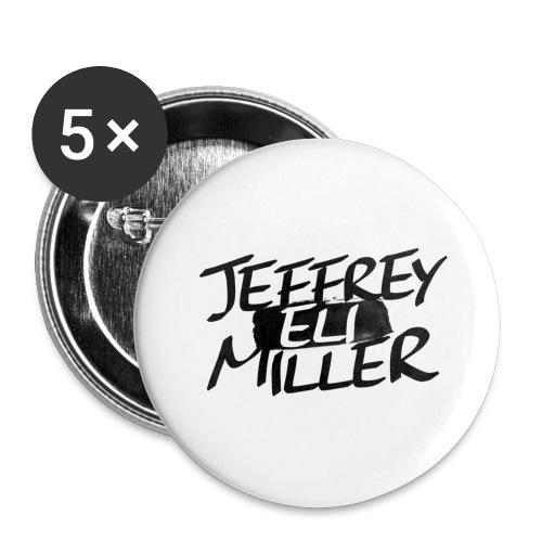 JEM Black Logo 5 Pk set  - Small Buttons