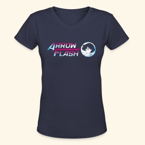 ArrowFlash (free shirtcolor selection) - Women's V-Neck T-Shirt