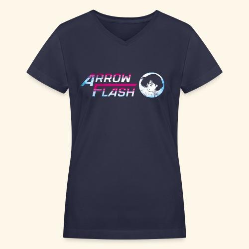 ArrowFlash (free shirtcolor selection) - Women's V-Neck T-Shirt