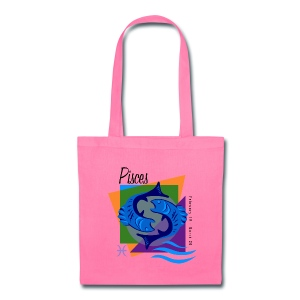 Pisces Sign Canvas Tote Bag - Tote Bag