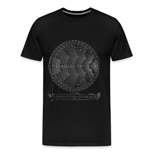 Smith chart (white) - Men's Premium T-Shirt