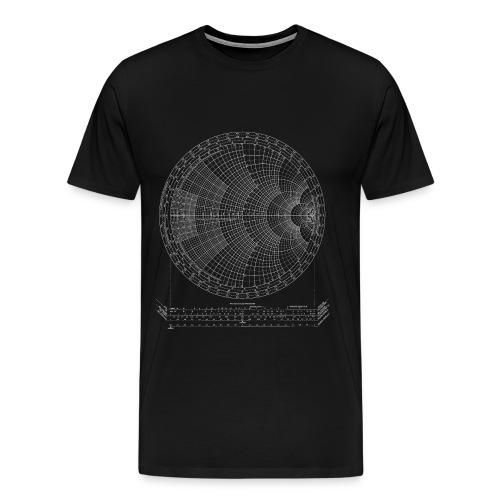 Smith chart (white) - Men's Premium T-Shirt