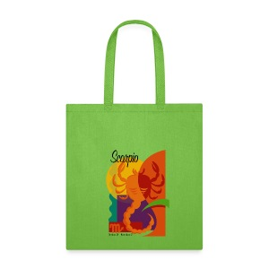 Scorpio Sign Canvas Tote Bag - Tote Bag