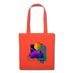 Virgo Sign Cotton Canvas Tote Bag - Tote Bag
