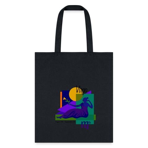 Virgo Sign Cotton Canvas Tote Bag - Tote Bag