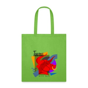 Taurus Sign Cotton Canvas Tote Bag - Tote Bag