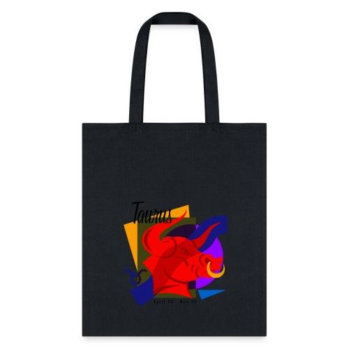 Taurus Sign Cotton Canvas Tote Bag - Tote Bag