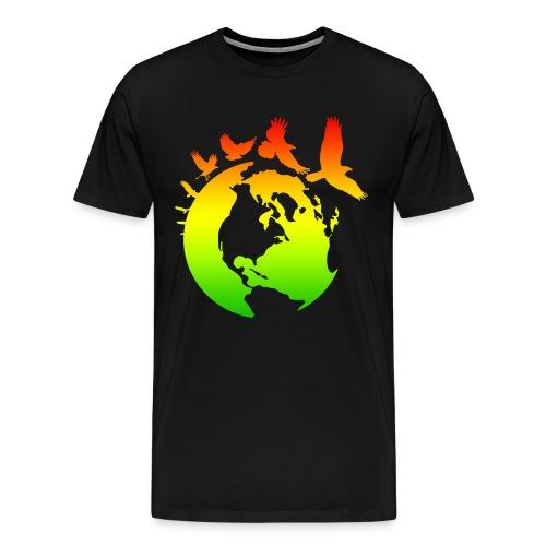 Mother Earth with Birds - Men's Premium T-Shirt