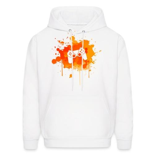 Immersive Minds Hoodie - Orange Splat - White Controller - Men's Hoodie