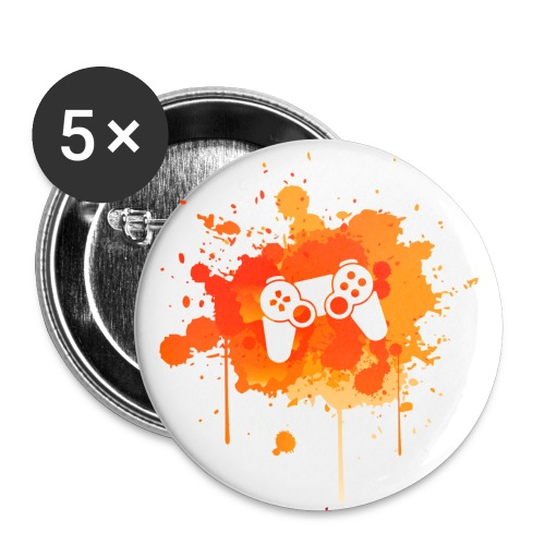 Immersive Minds Badge Small - Orange Splat - White Controller - Small Buttons