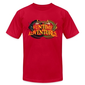 Two Best Friends Funtime Adventures  - Men's T-Shirt by American Apparel