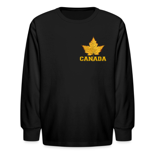 Kid's Canada Shirt Sporty Canada Varsity Shirts - Kids' Long Sleeve T-Shirt