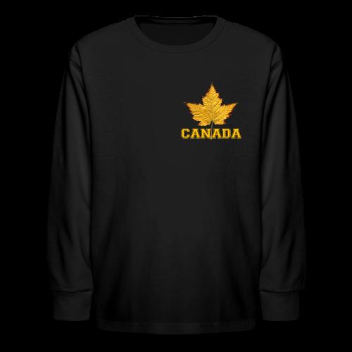 Kid's Canada Shirt Sporty Canada Varsity Shirts - Kids' Long Sleeve T-Shirt