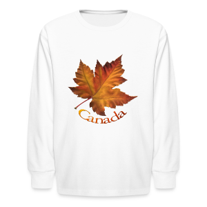 Kid's Canada Souvenir T-shirt Classic Canada Maple Leaf Shirt - Kids' Long Sleeve T-Shirt