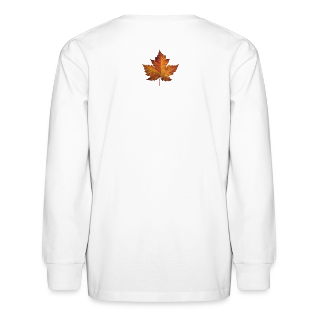 Kid's Canada Souvenir T-shirt Classic Canada Maple Leaf Shirt