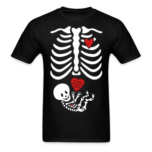 Skeleton X-ray Valentines shirt/daddy (Non-Maternity) - Men's T-Shirt