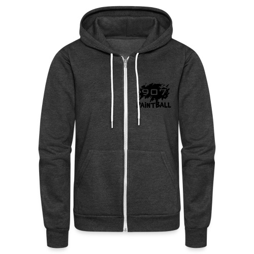 Zipper 907 Paintball Hoodie (Black logo) - Unisex Fleece Zip Hoodie