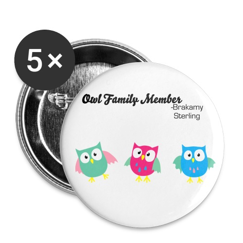 Owl family - Large Buttons
