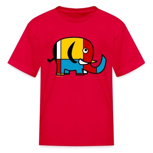 Mondrian Elephant Kids T-Shirt - Kids' T-Shirt