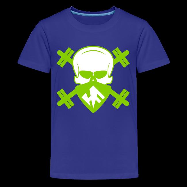bf7cc95692266c HardcoreFitness | Hardcore Fitness Skull With Barbells - Kids ...