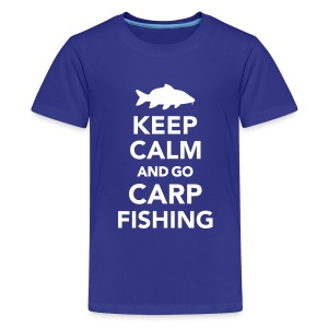 Keep calm and Carp Fishing Kids' Shirts - Kids' Premium T-Shirt