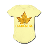 Baby Bodysuits ~ Baby Short Sleeve One Piece ~ Toddler Canada One Piece Canada Maple Leaf Baby Gift