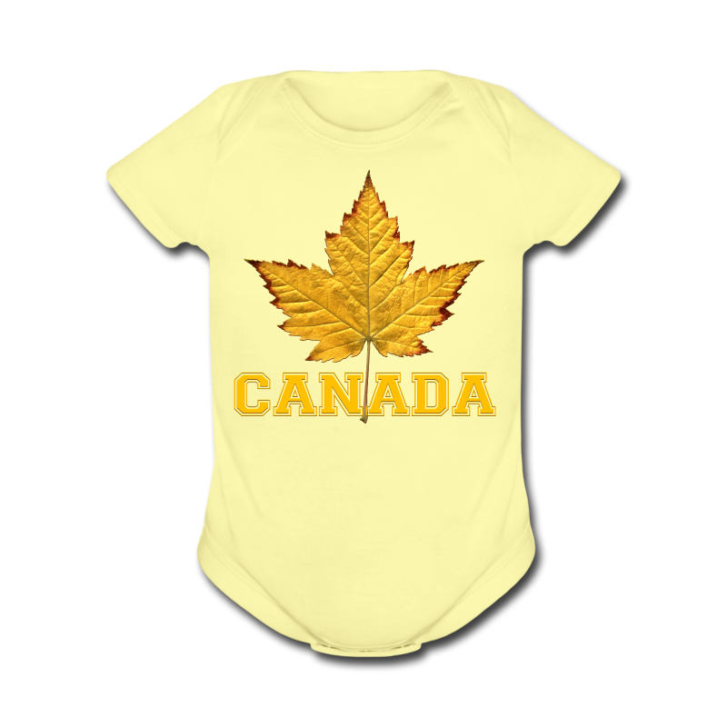 Toddler Canada One Piece Canada Maple Leaf Baby Gift - Short Sleeve Baby Bodysuit